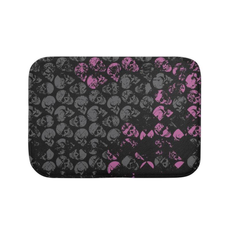 Skulls Pink Home Bath Mat by xristastavrou