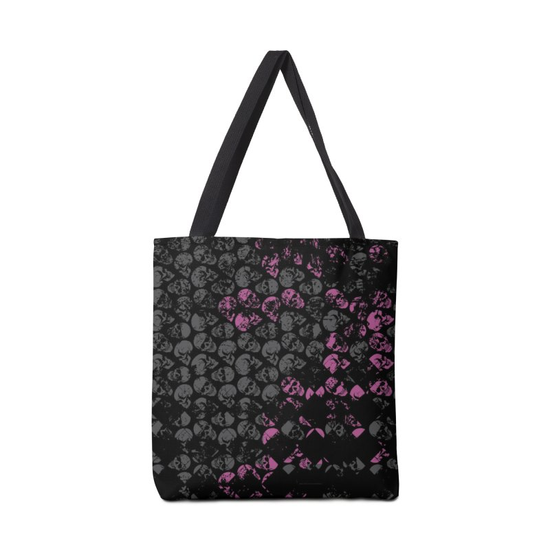 Skulls Pink Accessories Tote Bag Bag by xristastavrou