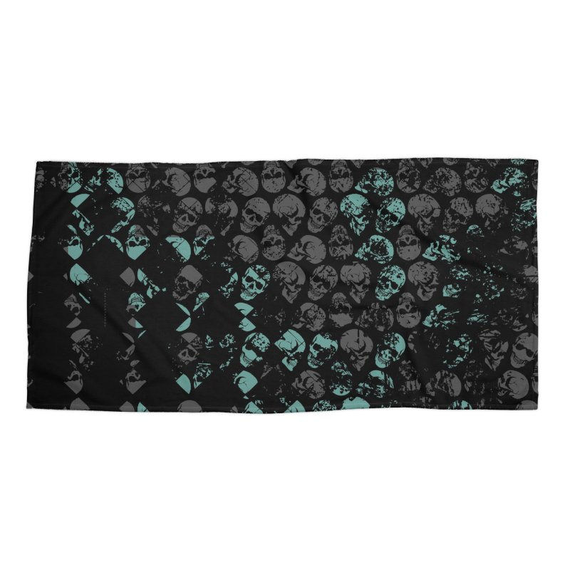 Skulls Turquoise Accessories Beach Towel by xristastavrou