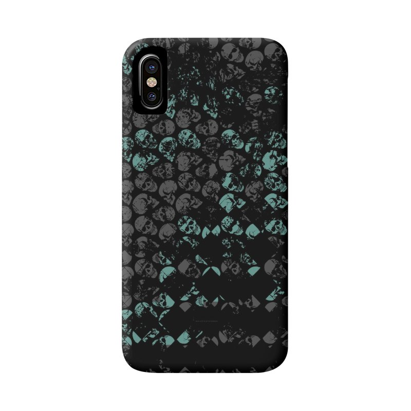 Skulls Turquoise Accessories Phone Case by xristastavrou