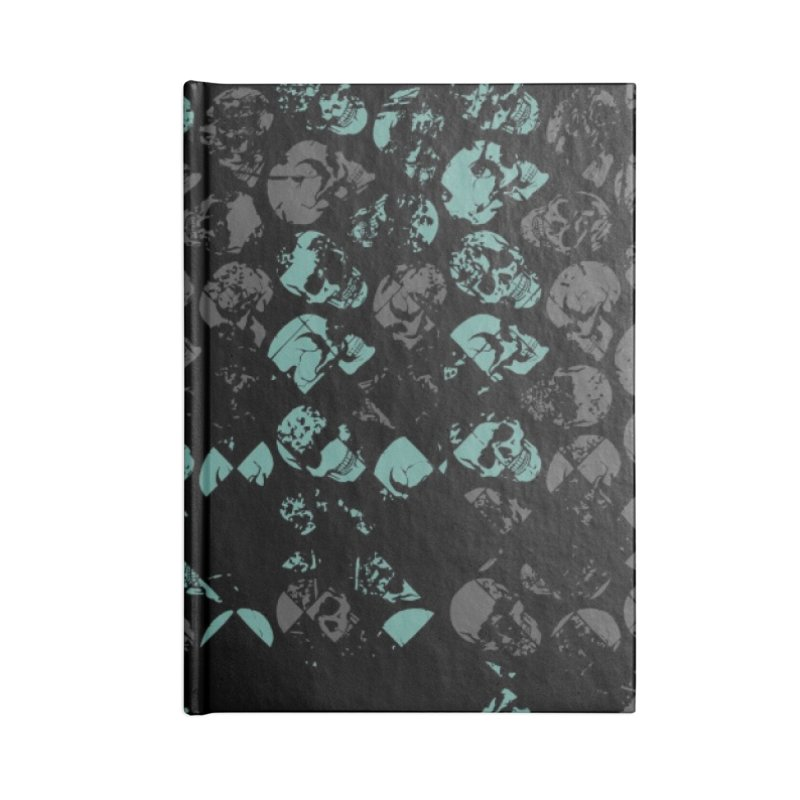Skulls Turquoise Accessories Lined Journal Notebook by xristastavrou