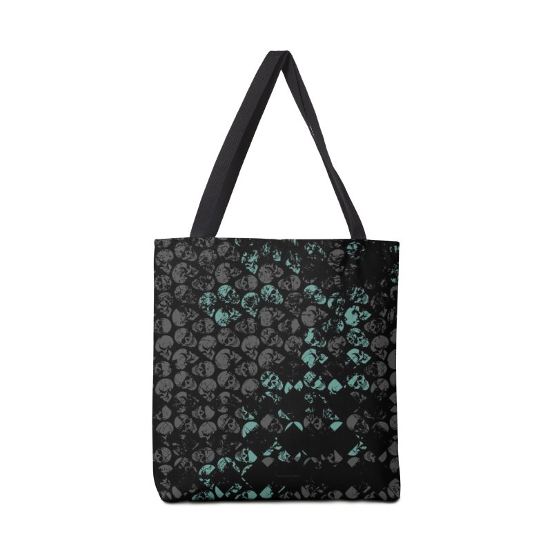 Skulls Turquoise Accessories Tote Bag Bag by xristastavrou