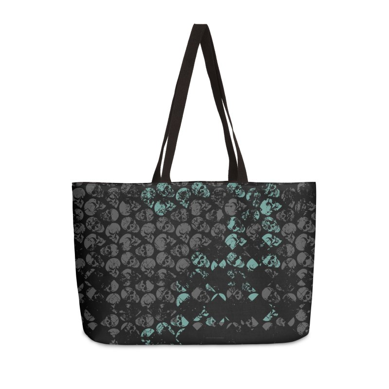 Skulls Turquoise Accessories Weekender Bag Bag by xristastavrou