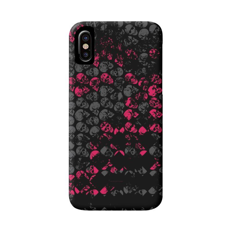 Skulls Fuchsia Accessories Phone Case by xristastavrou