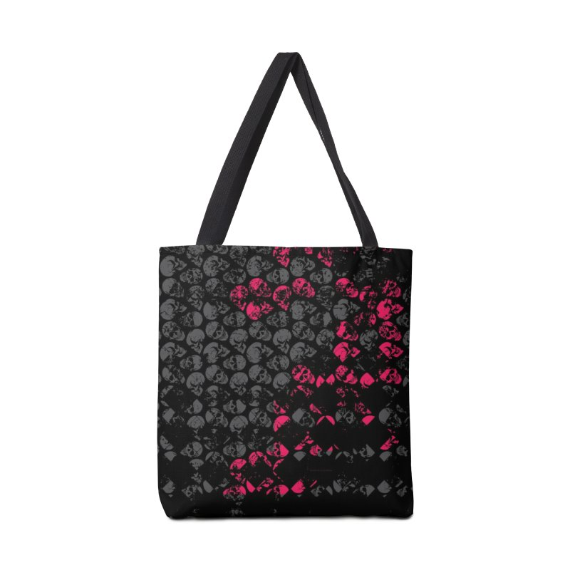 Skulls Fuchsia Accessories Tote Bag Bag by xristastavrou