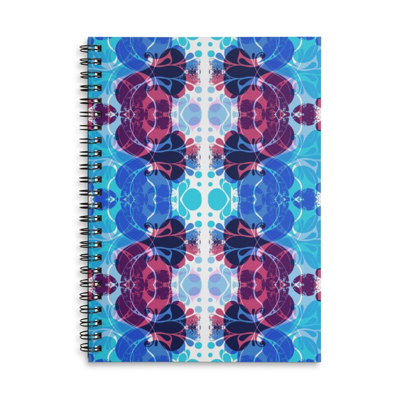Drops V2 Accessories Lined Spiral Notebook by xristastavrou