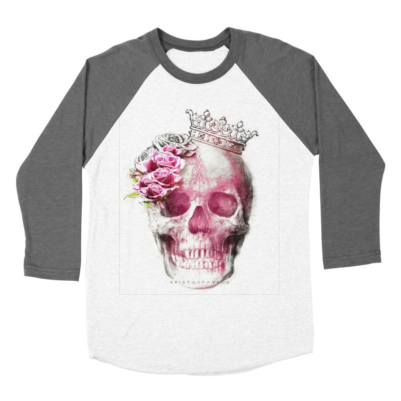 Skull Queen Women's Baseball Triblend Longsleeve T-Shirt by xristastavrou