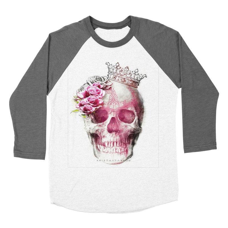 Skull Queen Men's Baseball Triblend Longsleeve T-Shirt by xristastavrou
