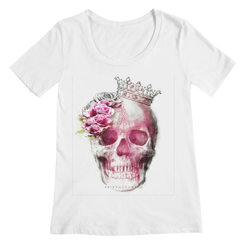 Skull Queen Women's Regular Scoop Neck by xristastavrou