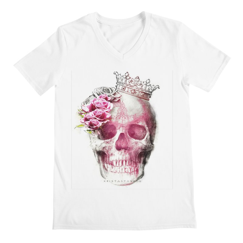 Skull Queen Men's Regular V-Neck by xristastavrou