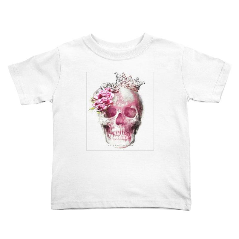 Skull Queen Kids Toddler T-Shirt by xristastavrou
