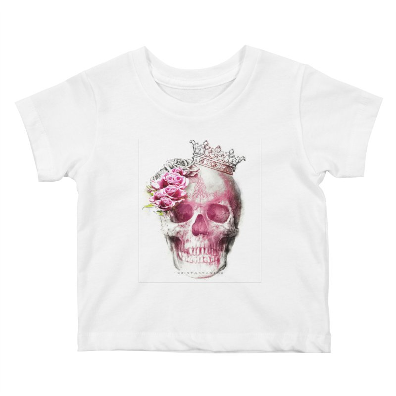 Skull Queen Kids Baby T-Shirt by xristastavrou