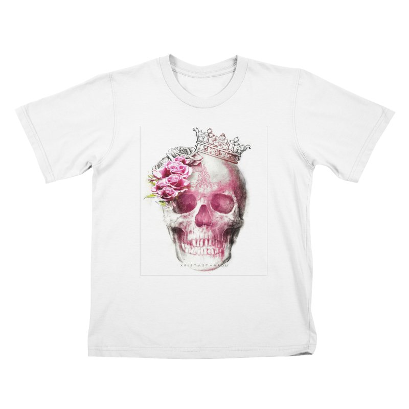 Skull Queen Kids T-Shirt by xristastavrou