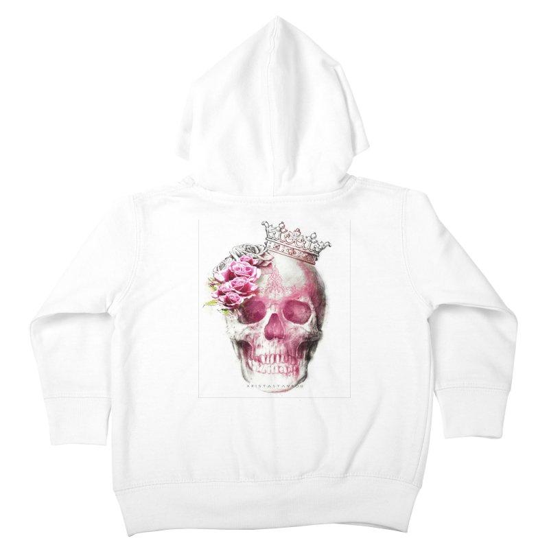Skull Queen Kids Toddler Zip-Up Hoody by xristastavrou