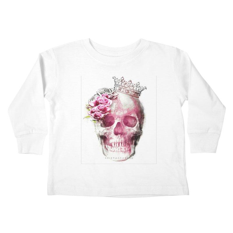 Skull Queen Kids Toddler Longsleeve T-Shirt by xristastavrou