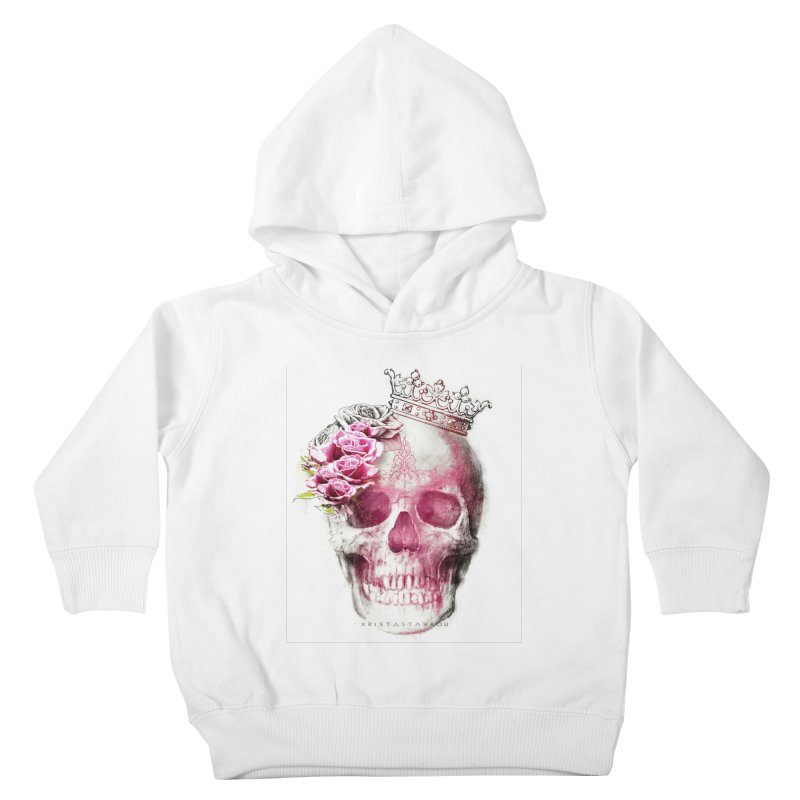 Skull Queen Kids Toddler Pullover Hoody by xristastavrou