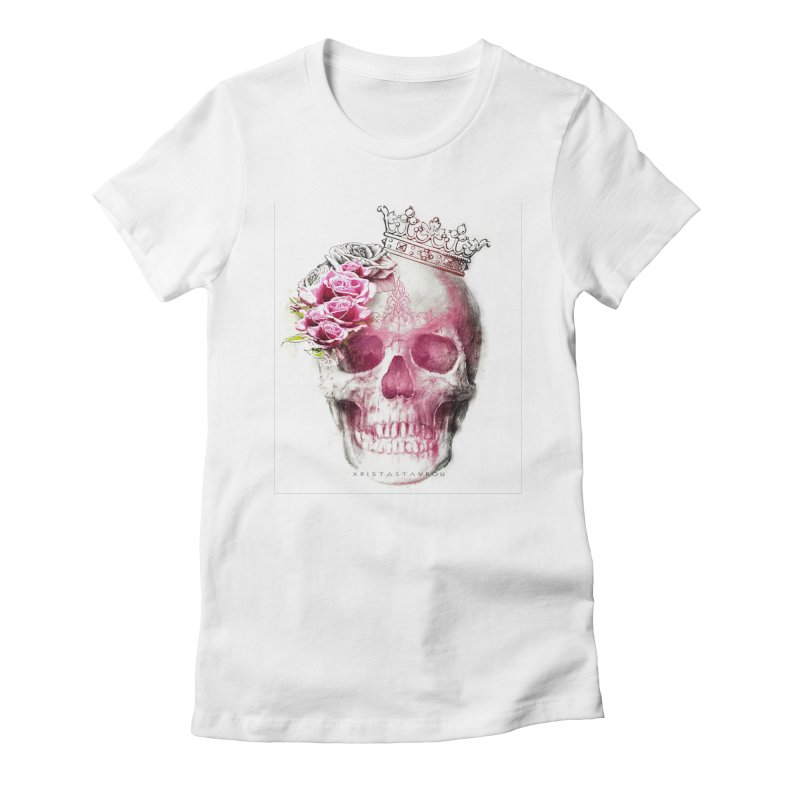 Skull Queen Women's Fitted T-Shirt by xristastavrou