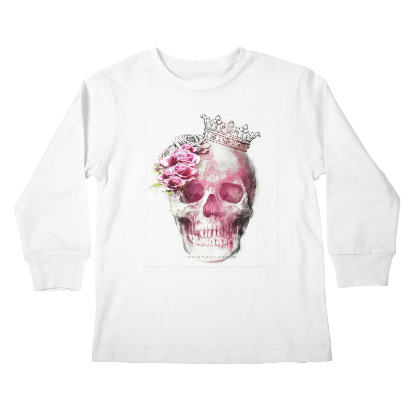 Skull Queen Kids Longsleeve T-Shirt by xristastavrou