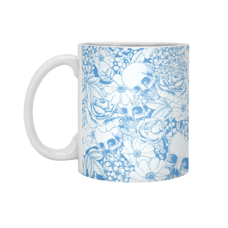 Skulls Blue Accessories Mug by xristastavrou