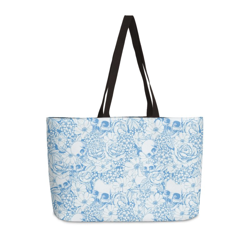 Skulls Blue Accessories Weekender Bag Bag by xristastavrou