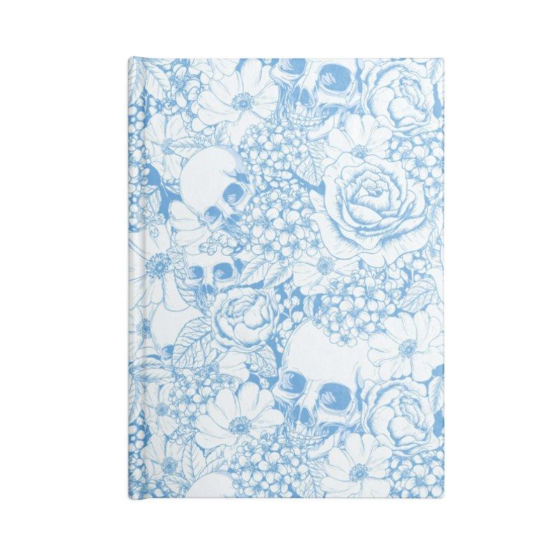 Skulls Blue Accessories Blank Journal Notebook by xristastavrou