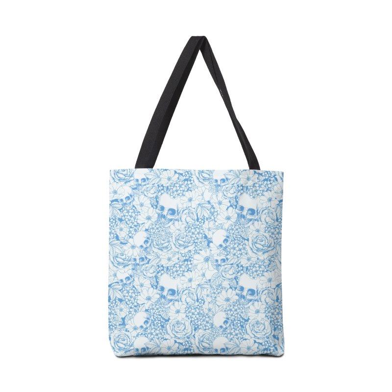 Skulls Blue Accessories Tote Bag Bag by xristastavrou