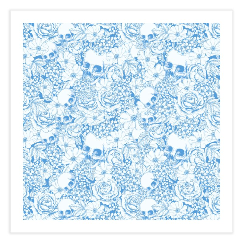 Skulls Blue Home Fine Art Print by xristastavrou