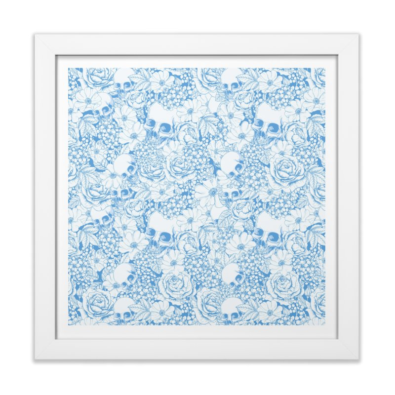 Skulls Blue Home Framed Fine Art Print by xristastavrou
