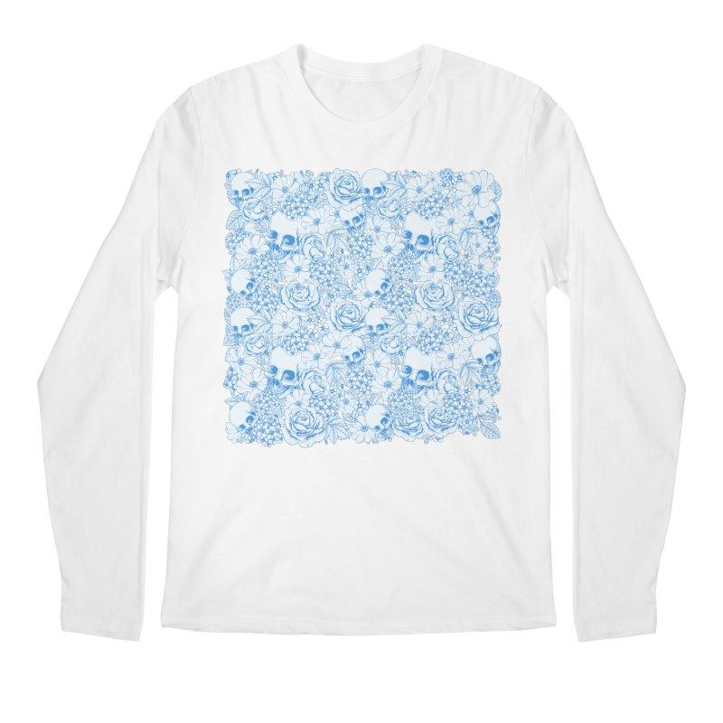 Skulls Blue Men's Regular Longsleeve T-Shirt by xristastavrou