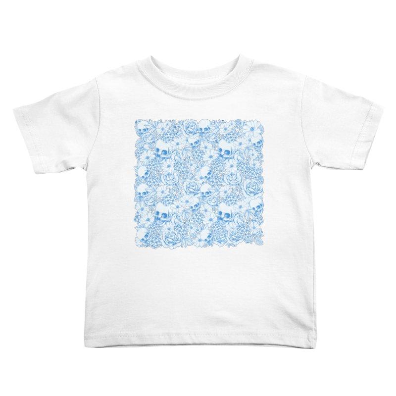 Skulls Blue Kids Toddler T-Shirt by xristastavrou