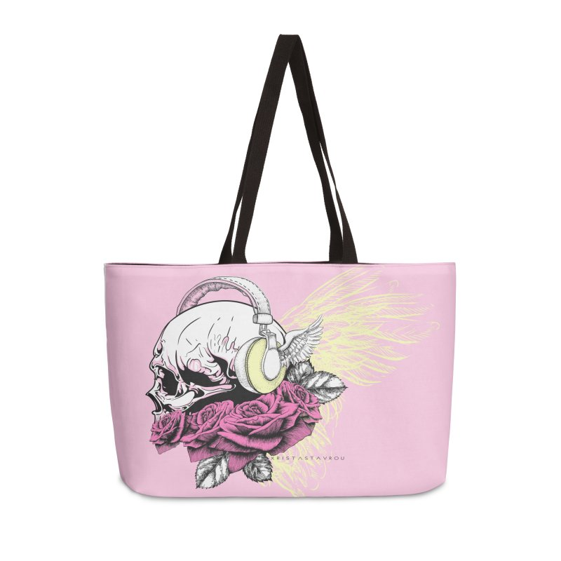 Skull Music Accessories Weekender Bag Bag by xristastavrou