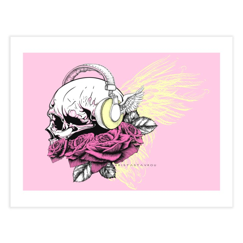 Skull Music Home Fine Art Print by xristastavrou
