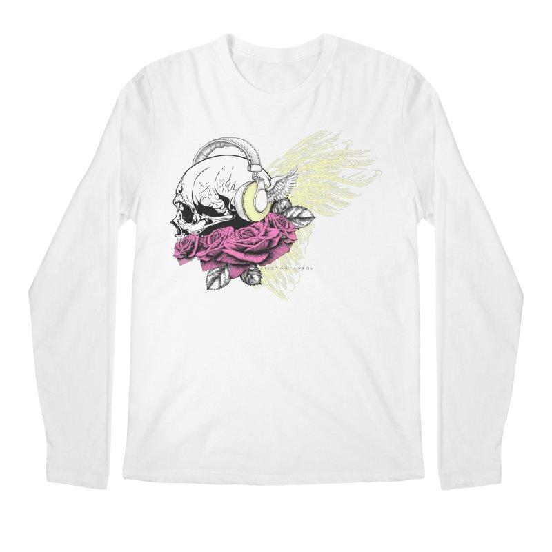 Skull Music Men's Regular Longsleeve T-Shirt by xristastavrou