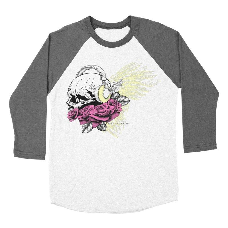 Skull Music Women's Baseball Triblend Longsleeve T-Shirt by xristastavrou