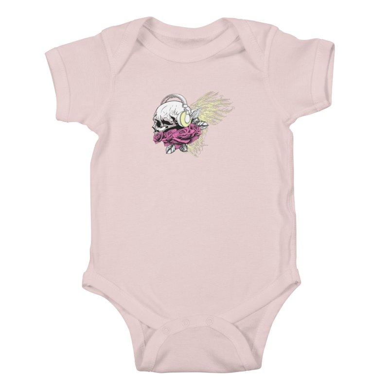 Skull Music Kids Baby Bodysuit by xristastavrou