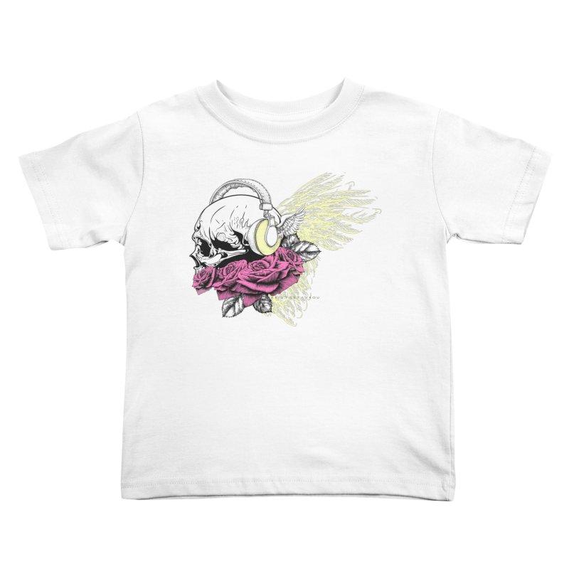 Skull Music Kids Toddler T-Shirt by xristastavrou