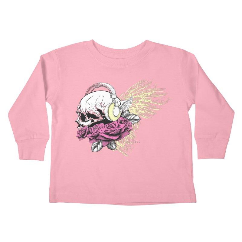 Skull Music Kids Toddler Longsleeve T-Shirt by xristastavrou