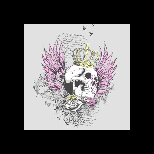 image for Skull Queen with pink wings