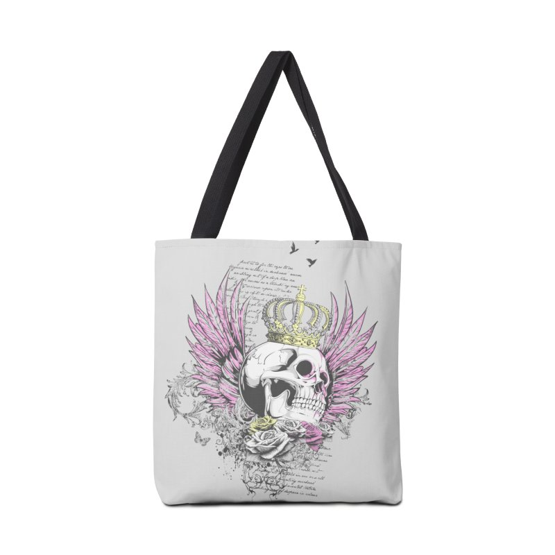Skull Queen with pink wings Accessories Bag by xristastavrou