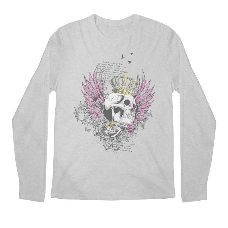 Skull Queen with pink wings Men's Regular Longsleeve T-Shirt by xristastavrou
