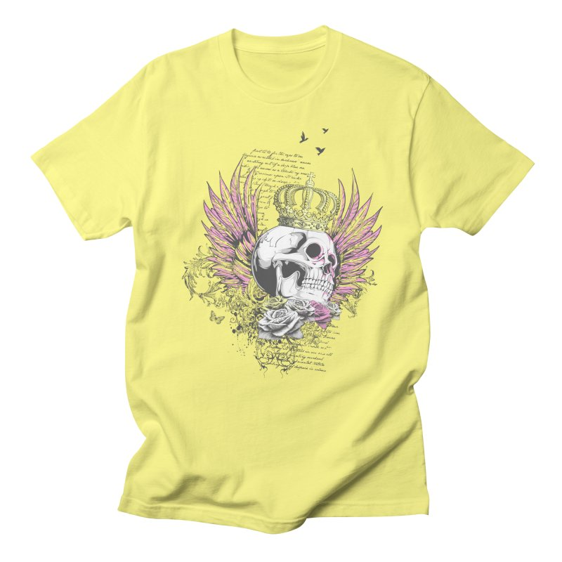 Skull Queen with pink wings Women's Regular Unisex T-Shirt by xristastavrou