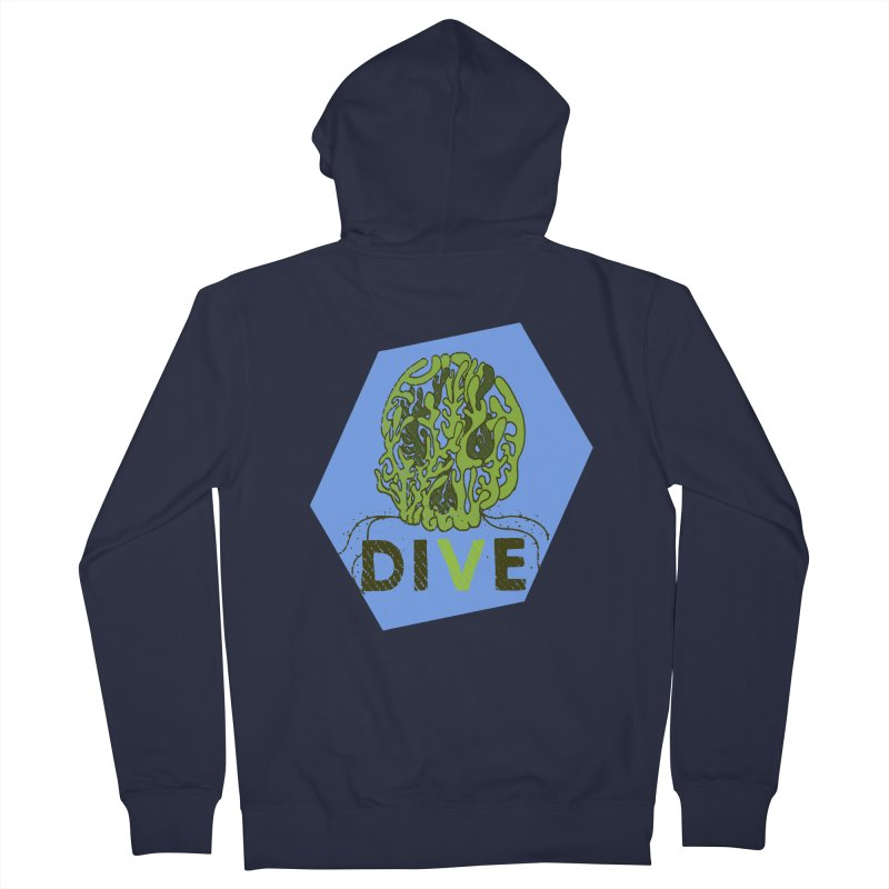 Dive or Die Women's French Terry Zip-Up Hoody by Thirty Silver