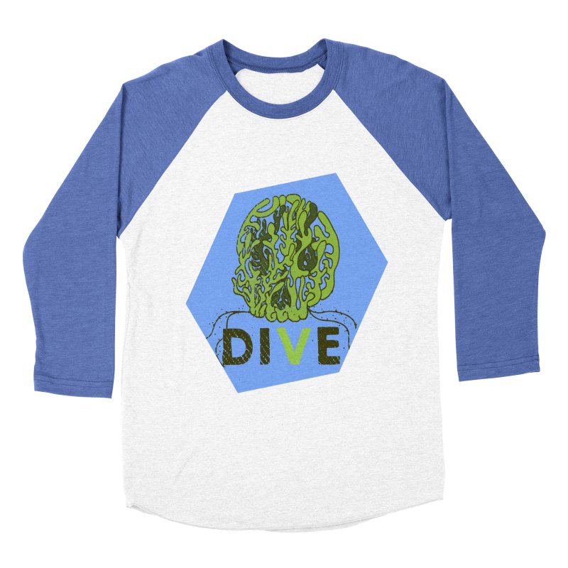 Dive or Die Women's Baseball Triblend Longsleeve T-Shirt by Thirty Silver