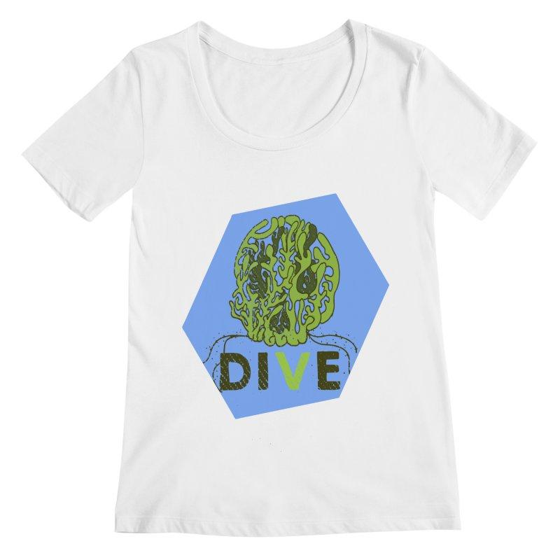 Dive or Die Women's Regular Scoop Neck by Thirty Silver