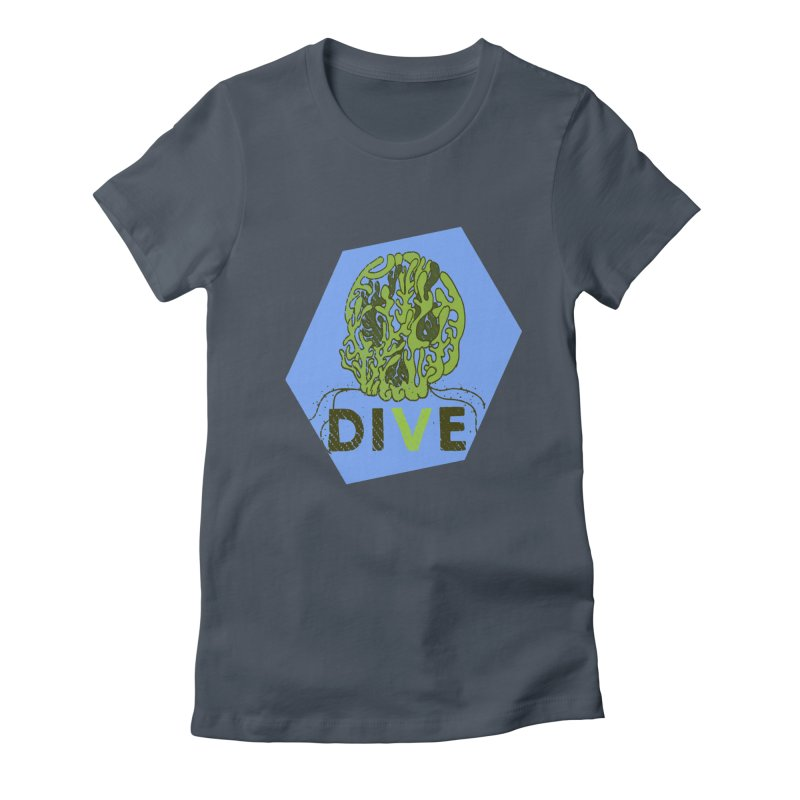 Dive or Die Women's Fitted T-Shirt by Thirty Silver