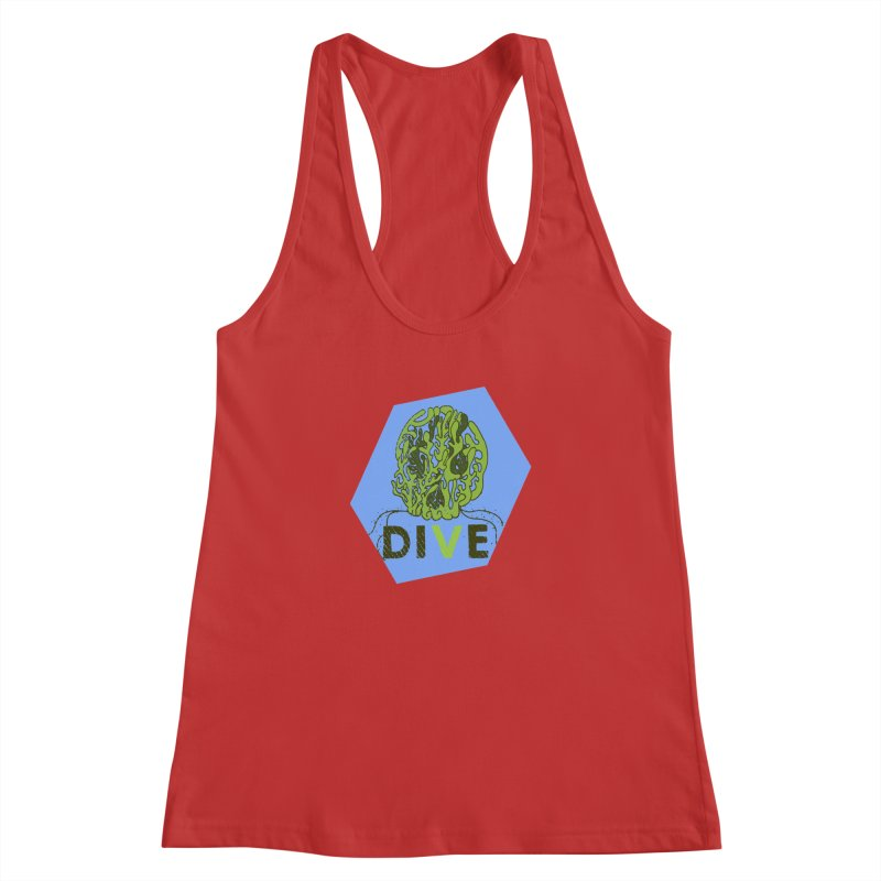Dive or Die Women's Racerback Tank by Thirty Silver