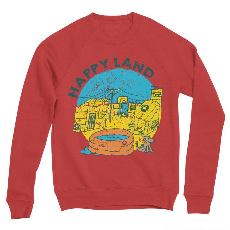 Happy Land Men's Sponge Fleece Sweatshirt by Thirty Silver