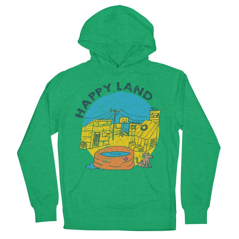 Happy Land Women's French Terry Pullover Hoody by Thirty Silver