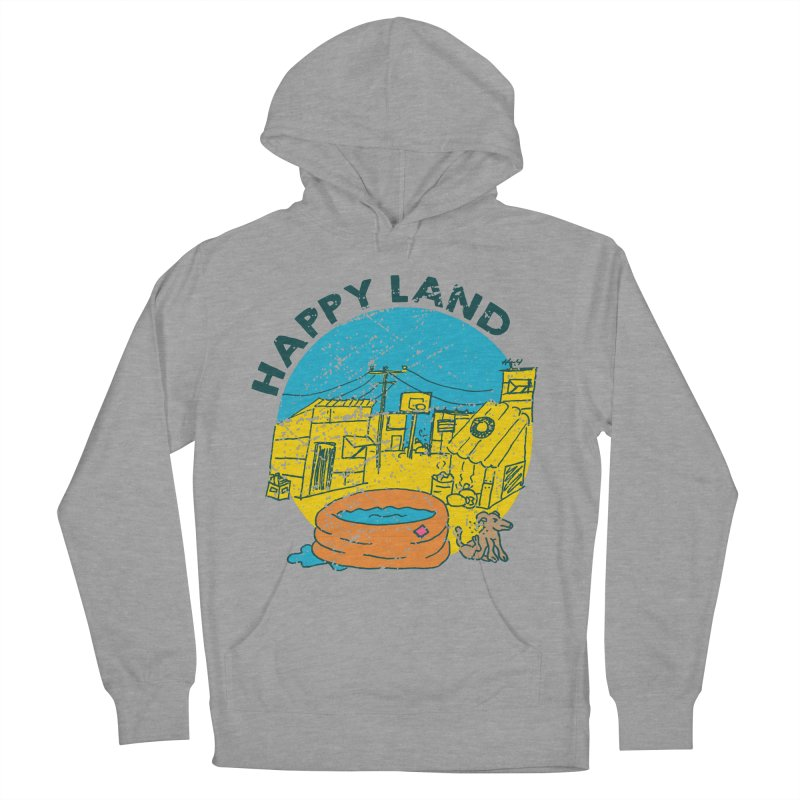 Happy Land Men's French Terry Pullover Hoody by Thirty Silver