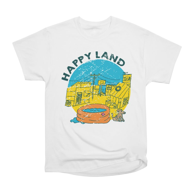Happy Land Men's Heavyweight T-Shirt by Thirty Silver